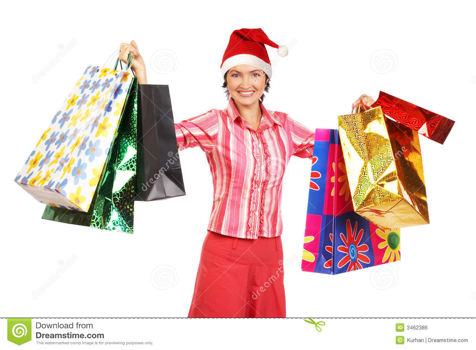 Shopping Christmas Woman Royalty Free Stock Image Image