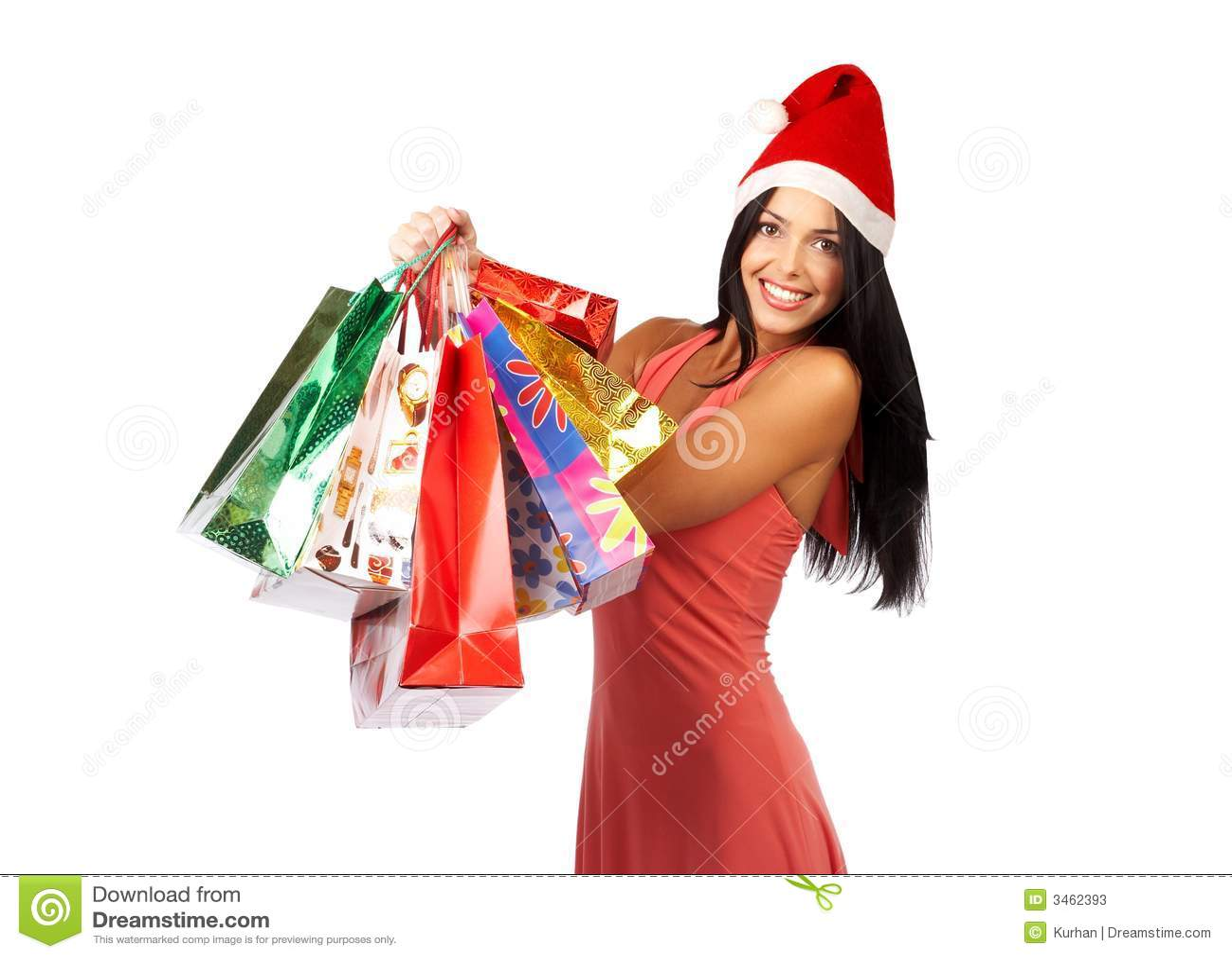 Shopping Christmas Woman Stock Photos Image 3462393