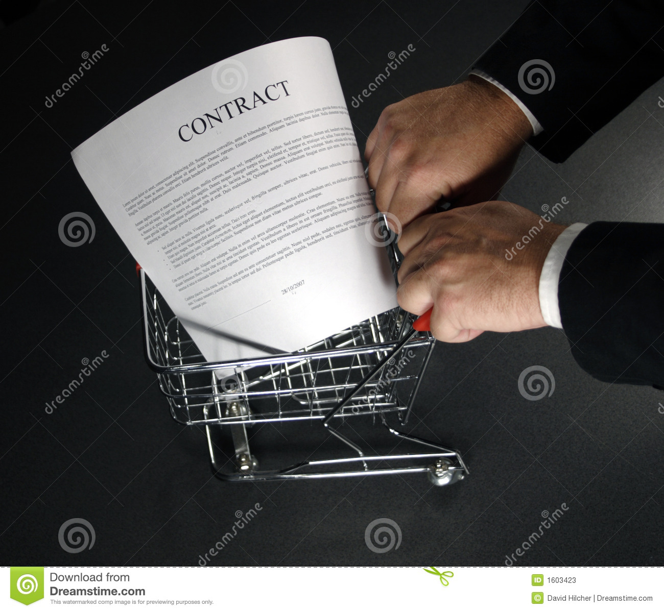 Shopping a contract around