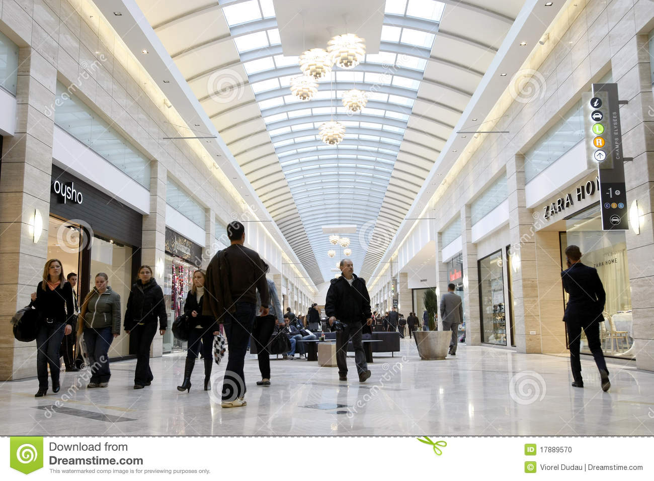 busy shopping area essay