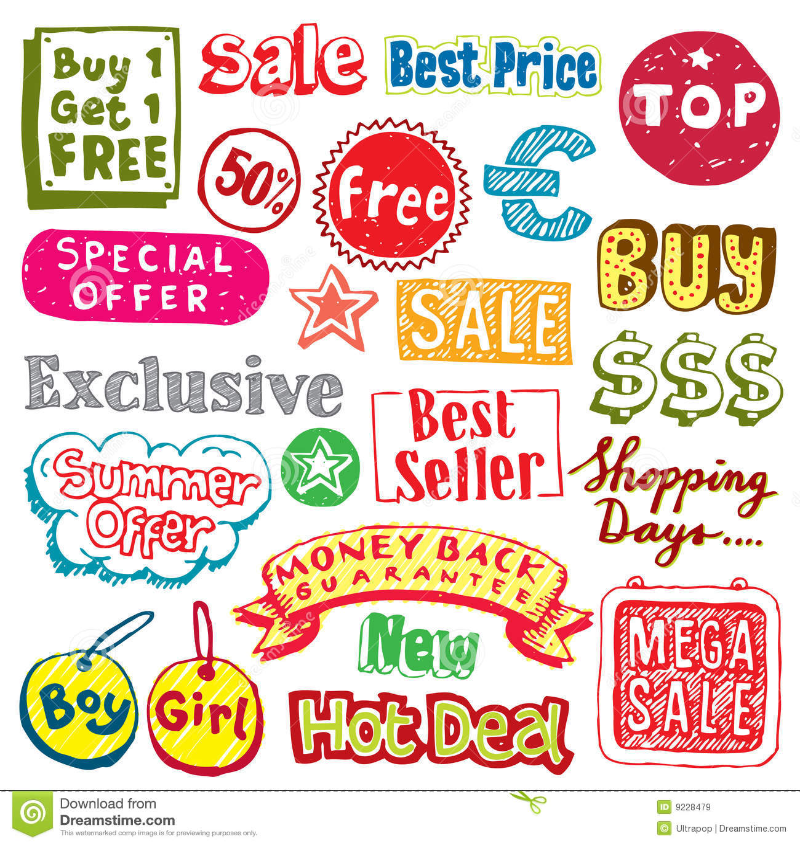 Shopping doodles
