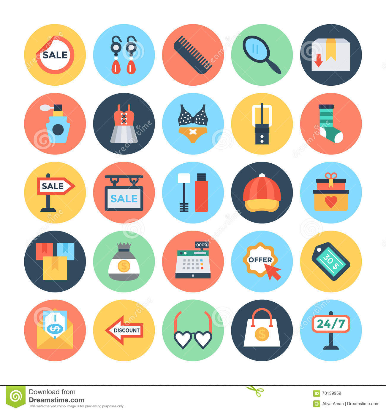 Shopping and e commerce vector icons 4 stock illustration shopping and e commerce vector icons 4 altavistaventures Images