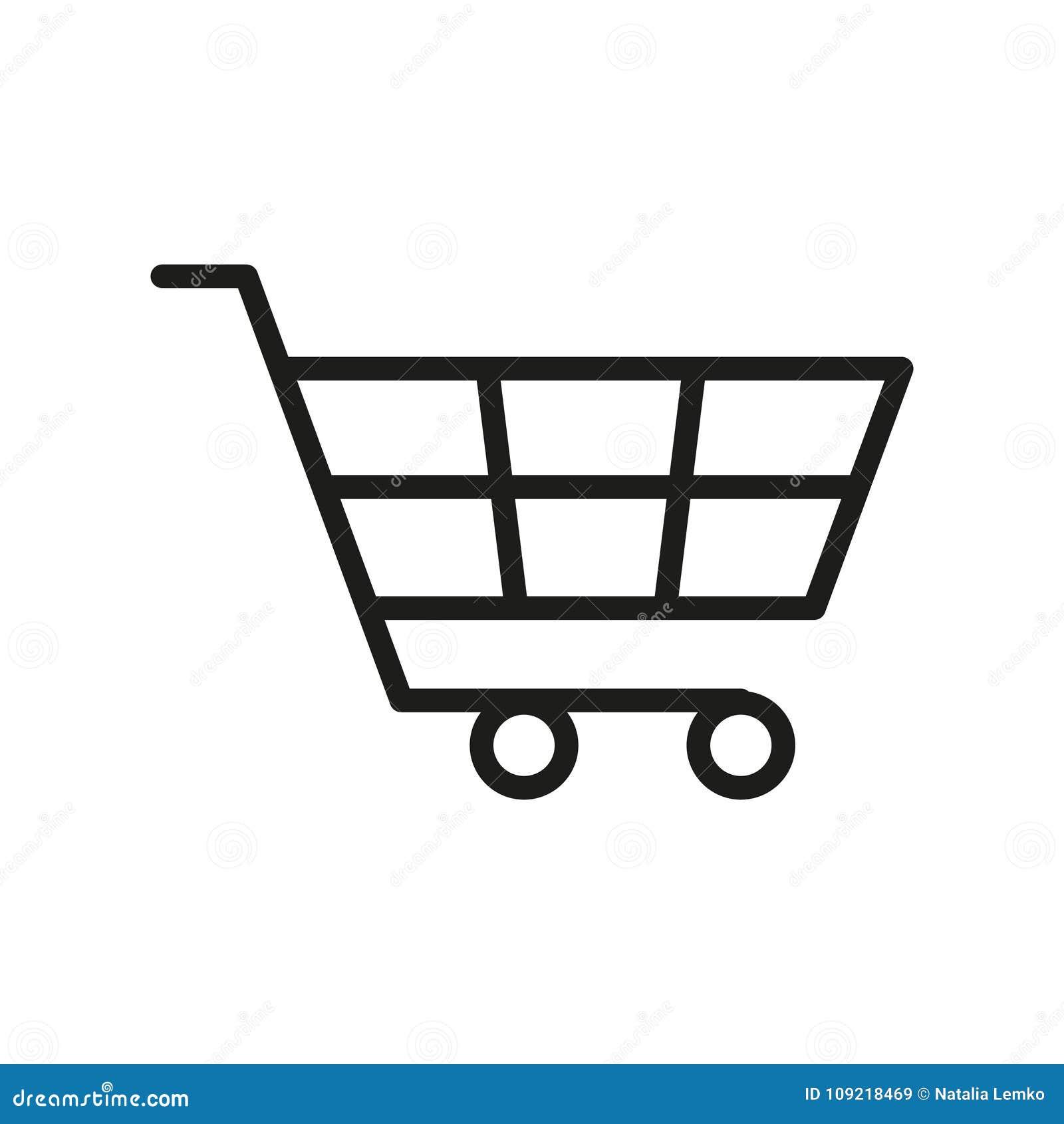 Shopping för serie för vagnssymbol röd
