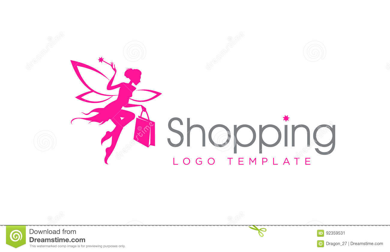 Fairy Template | Shopping Fairy Logo Template Stock Vector Illustration Of