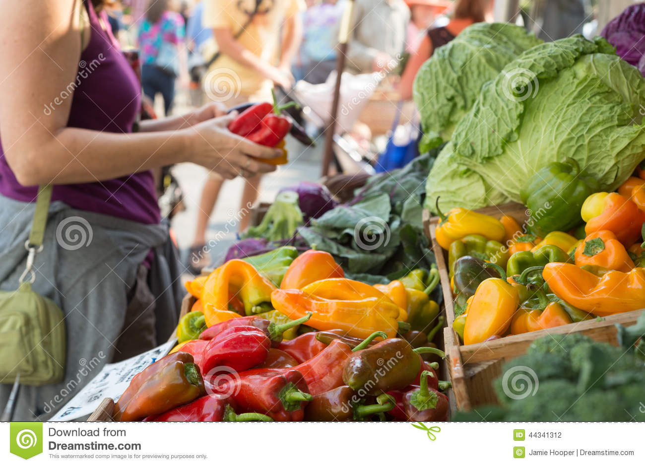 Shopping at the Farmers Market