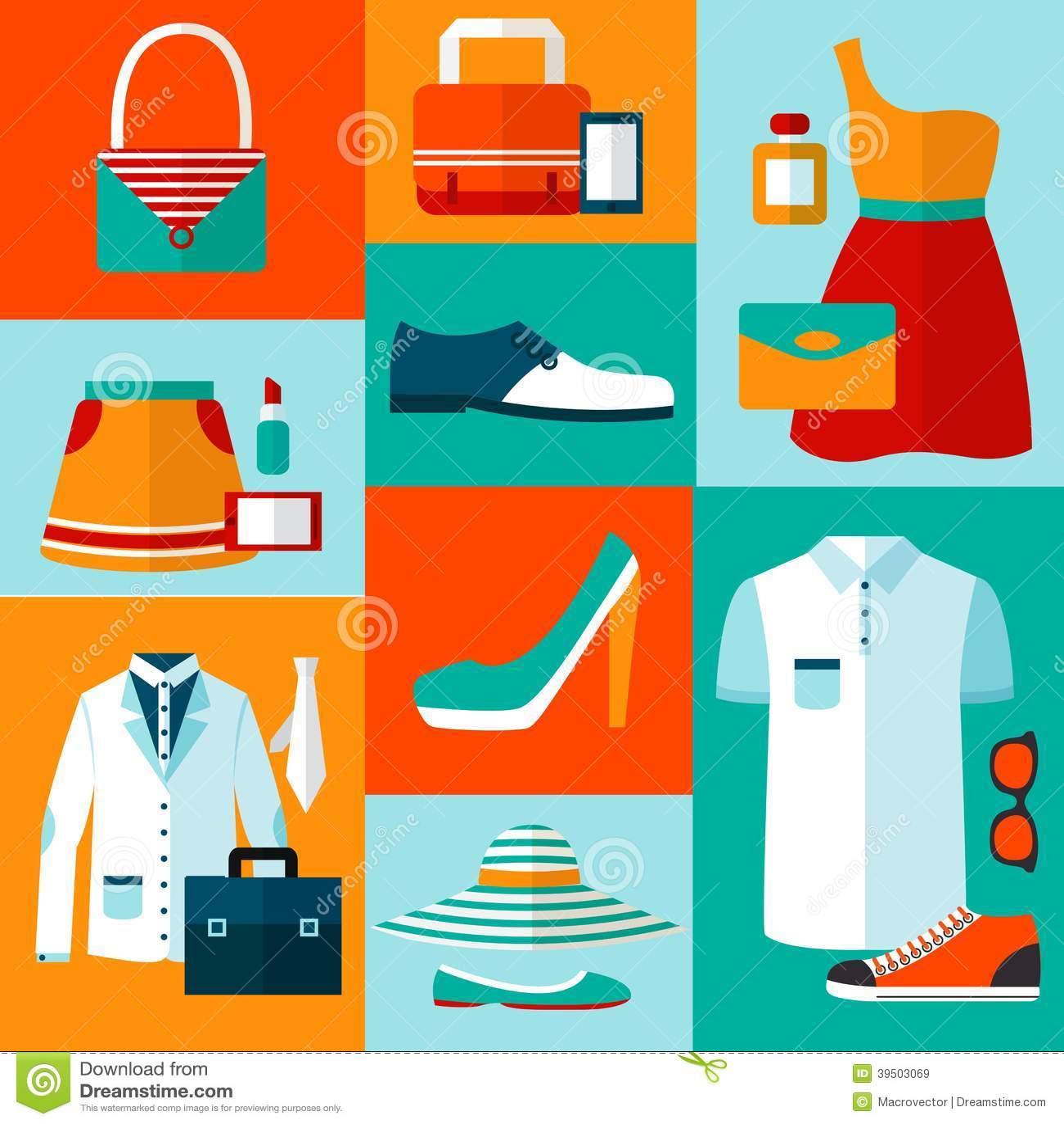 Shopping fashion design elements
