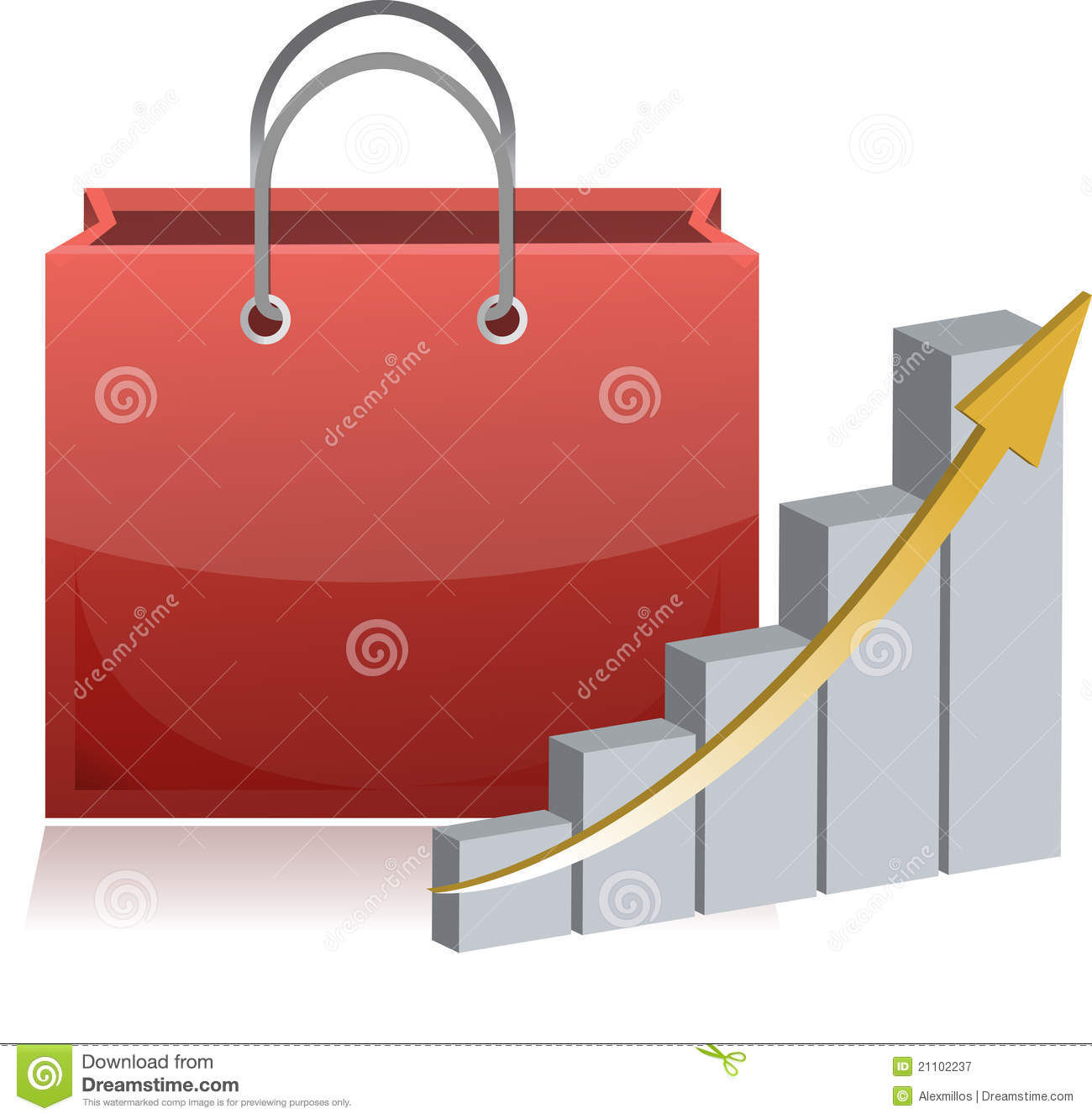 Finance Sign: Shopping Finance Sign And Chart Royalty Free Stock