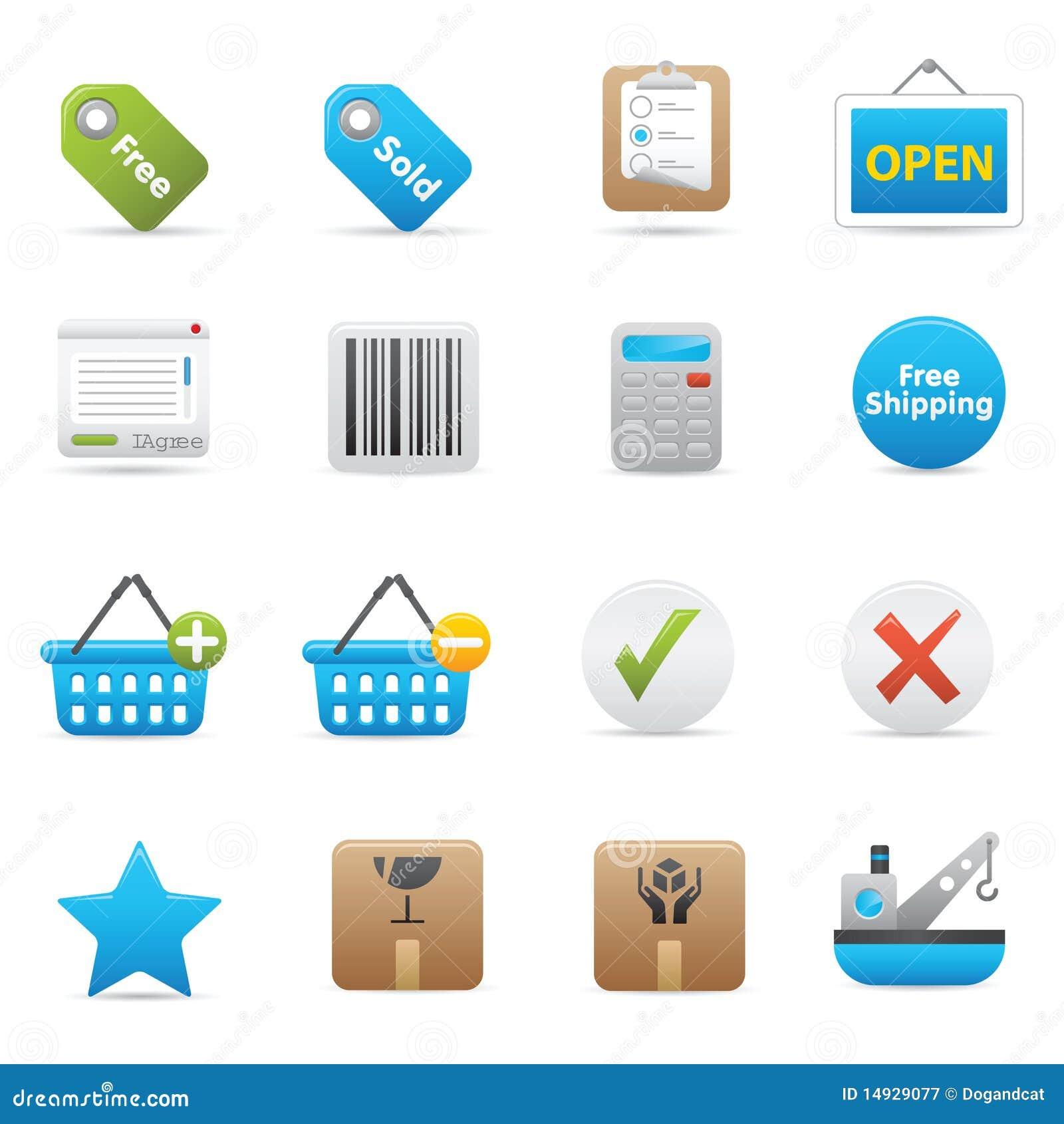 Shopping Icons   Indigo Serie 02