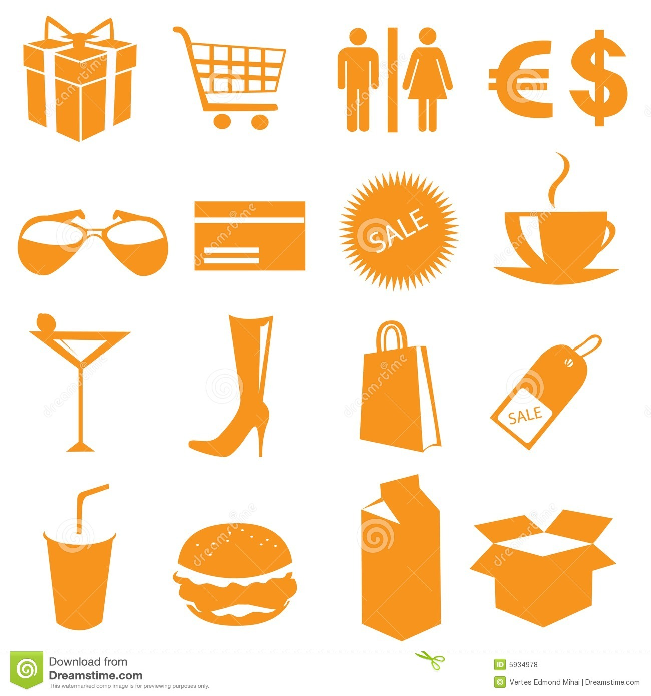 Shopping icons vector stock vector. Image of present ...