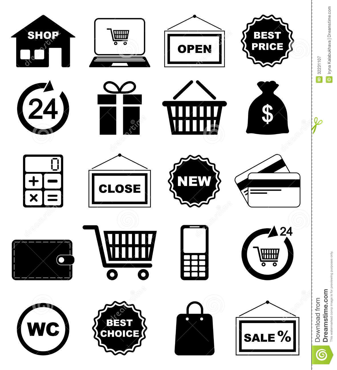 Shopping Icons Royalty Free Stock Photography - Image: 32231107: www.dreamstime.com/royalty-free-stock-photography-shopping-icons...