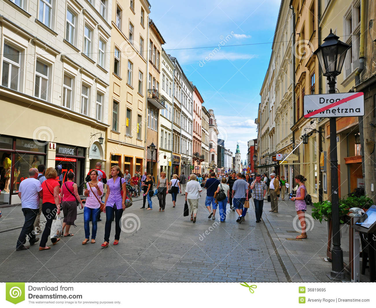 Shopping In Krakow Editorial Image Image 36819695