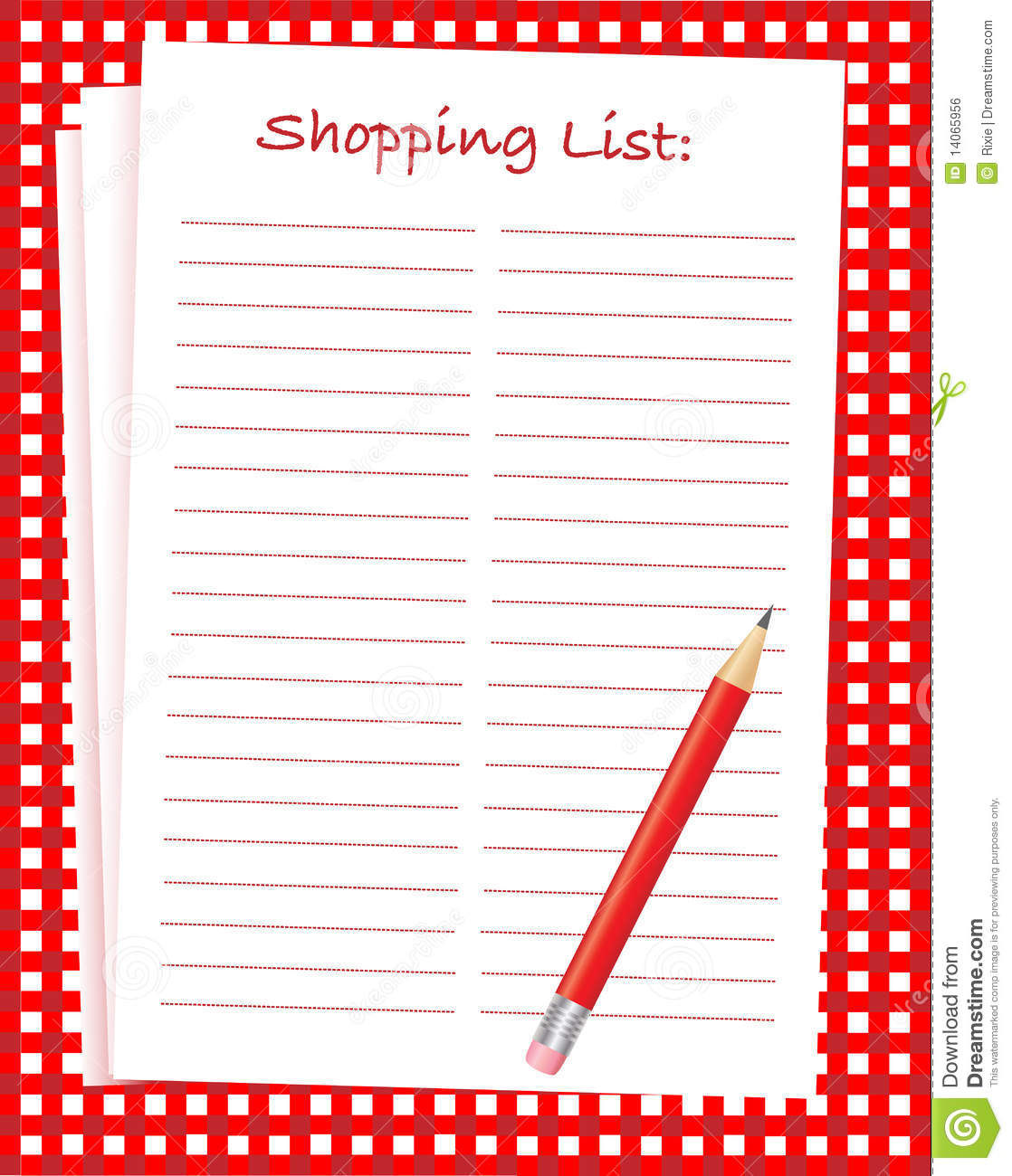 Shopping List Royalty Free Image Image 14065956 – Shopping List Format