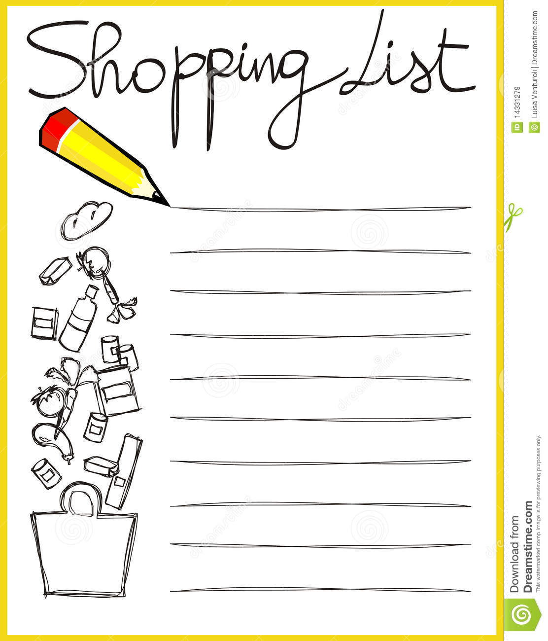 Image result for shopping list
