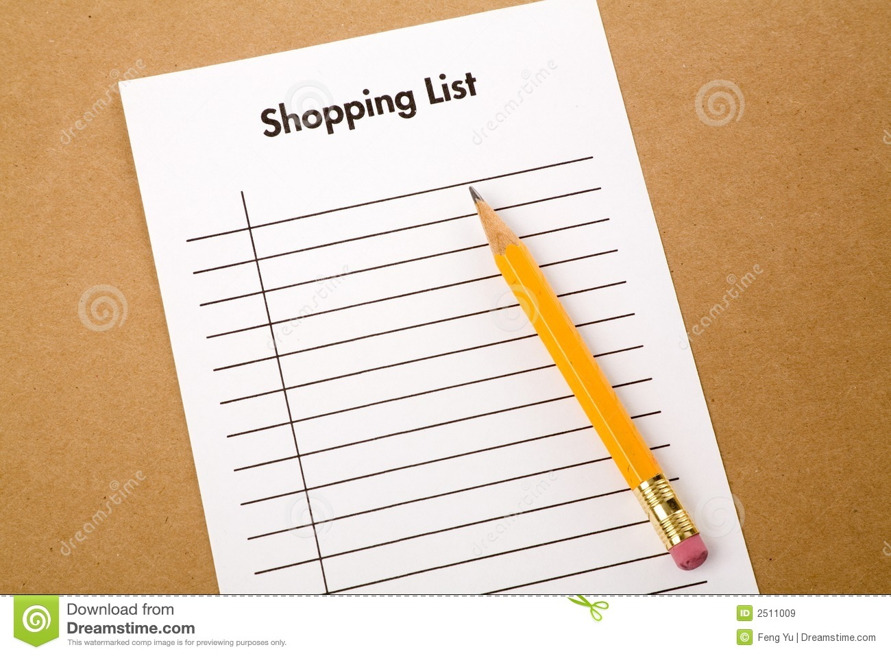 Shopping List Royalty Free Stock Images - Image: 2511009