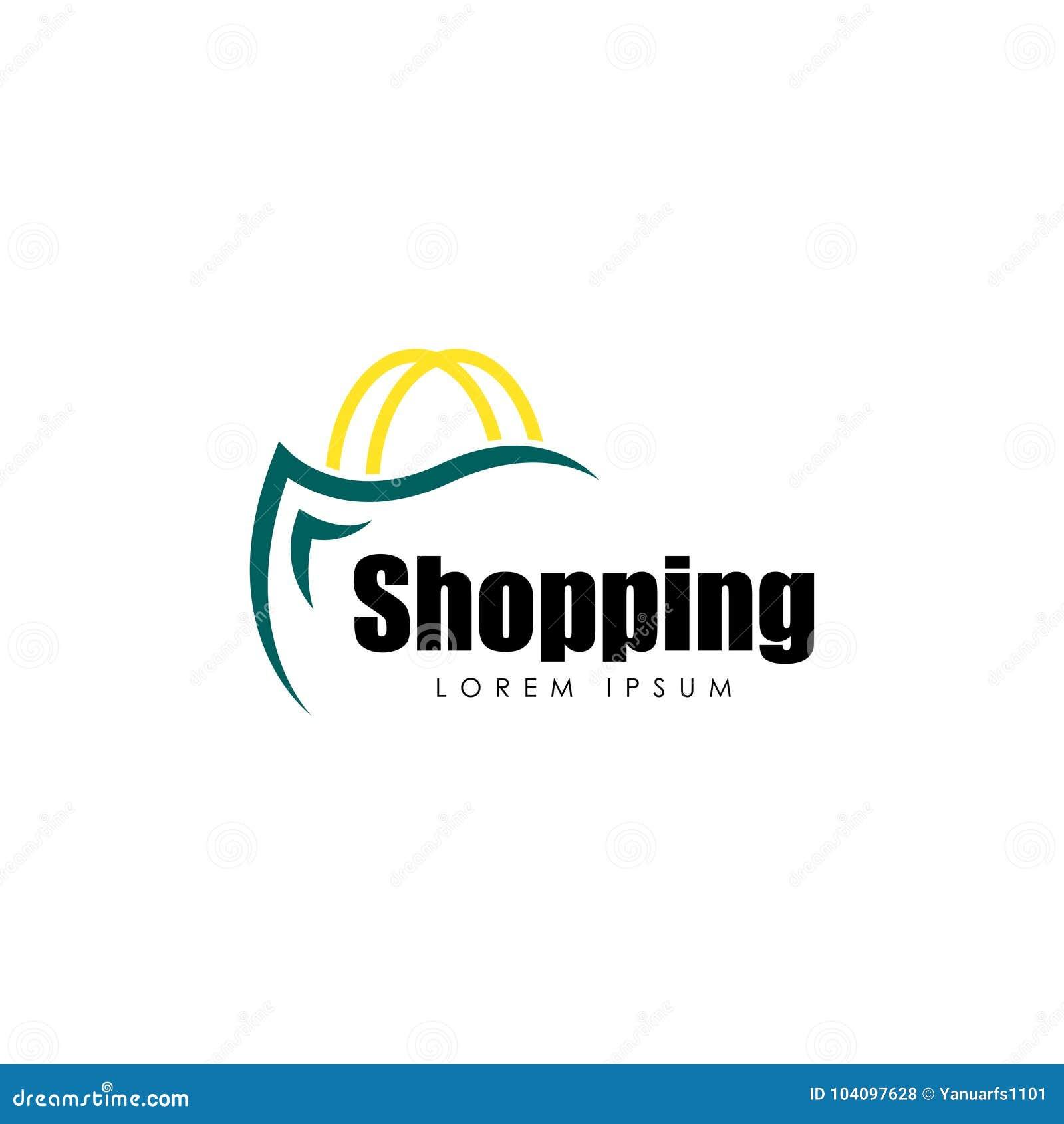 Shopping Logo Vector Art. Template. Business