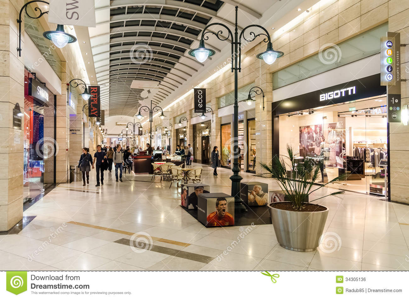 Shopping mall building interior editorial photo image for Interior design shopping