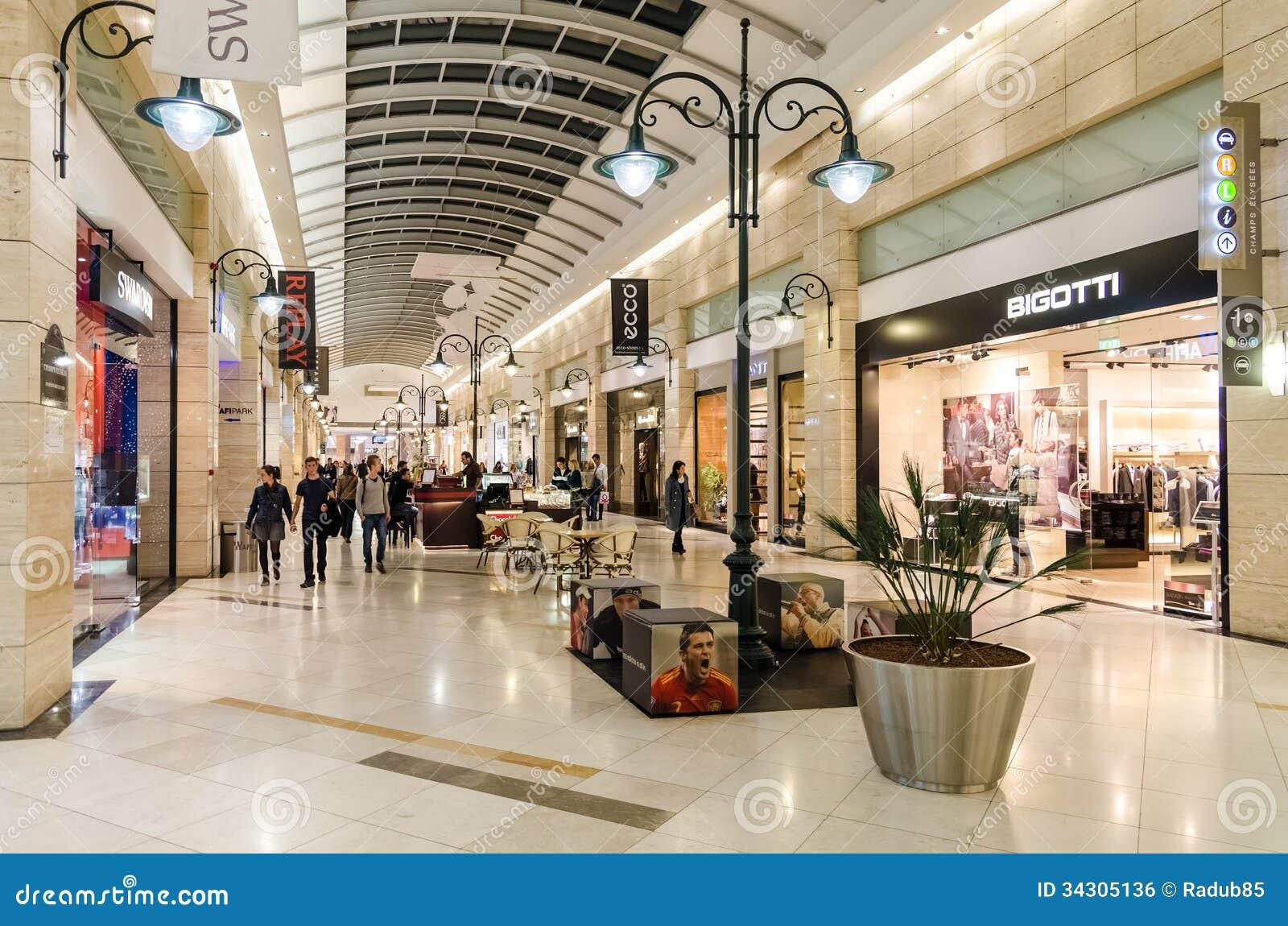 Shopping mall building interior editorial photo image for Interior design shopping
