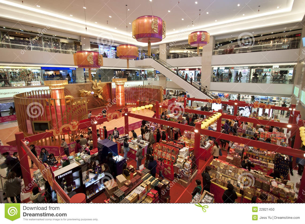 Shopping mall before chinese new year in hong kong for Shopping in cina