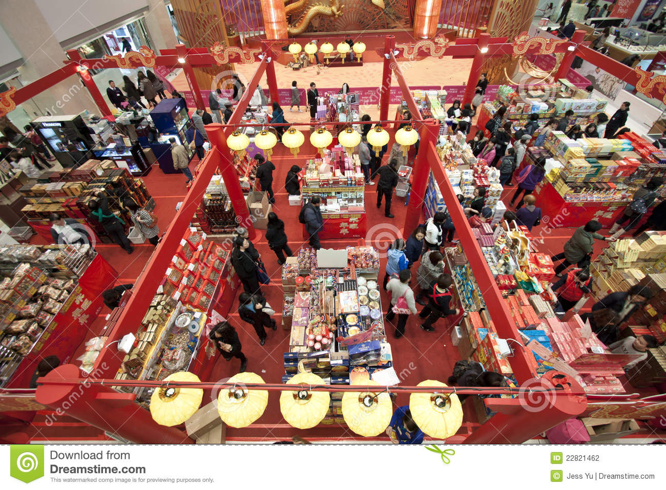Shopping mall in chinese new year in hong kong editorial for Shopping in cina