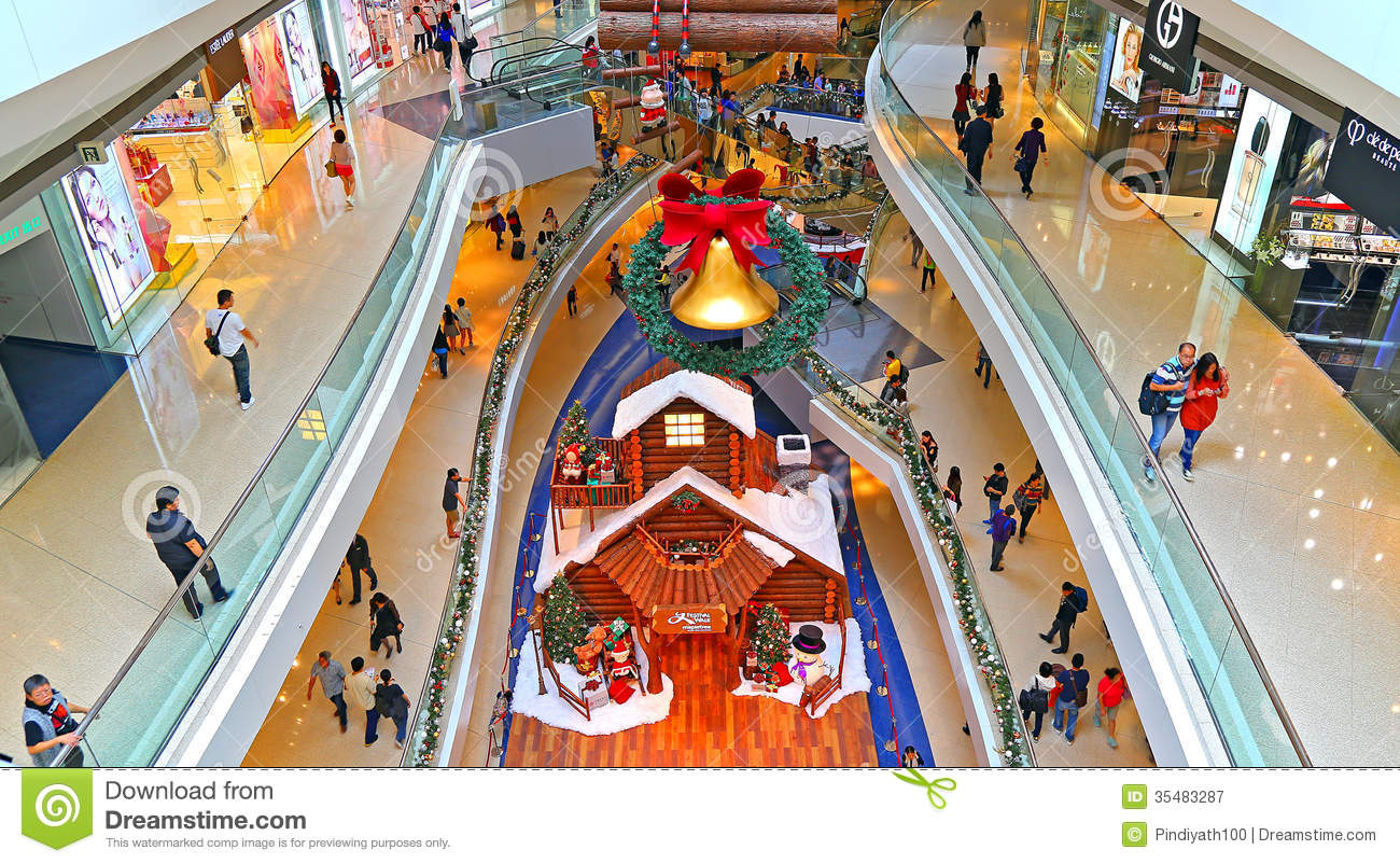 Shopping mall christmas decoration editorial photography for Christmas decorations online shopping