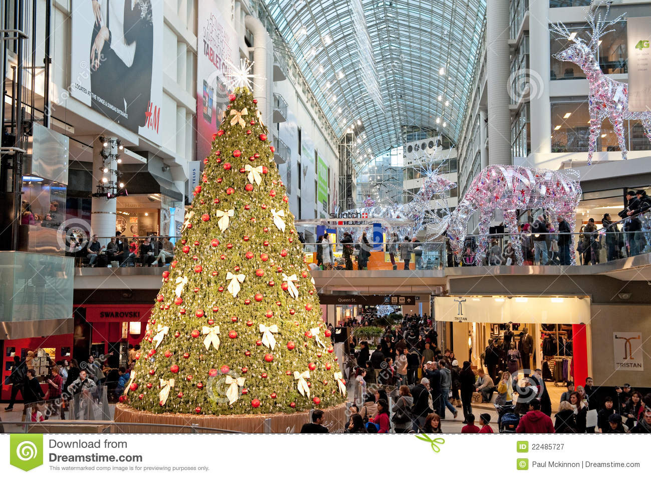 Shopping Mall Decorated For Christmas Editorial Photography ...