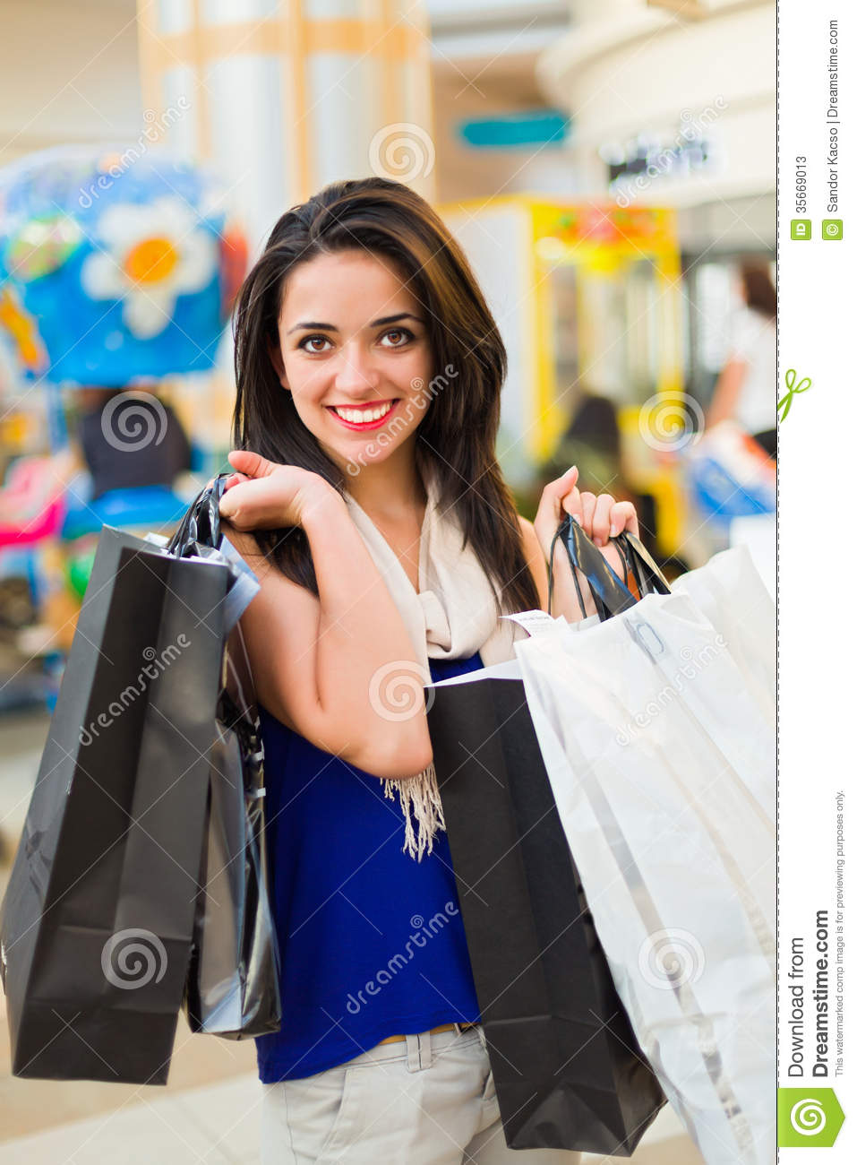 Shopping In Mall Stock Photos Image 35669013
