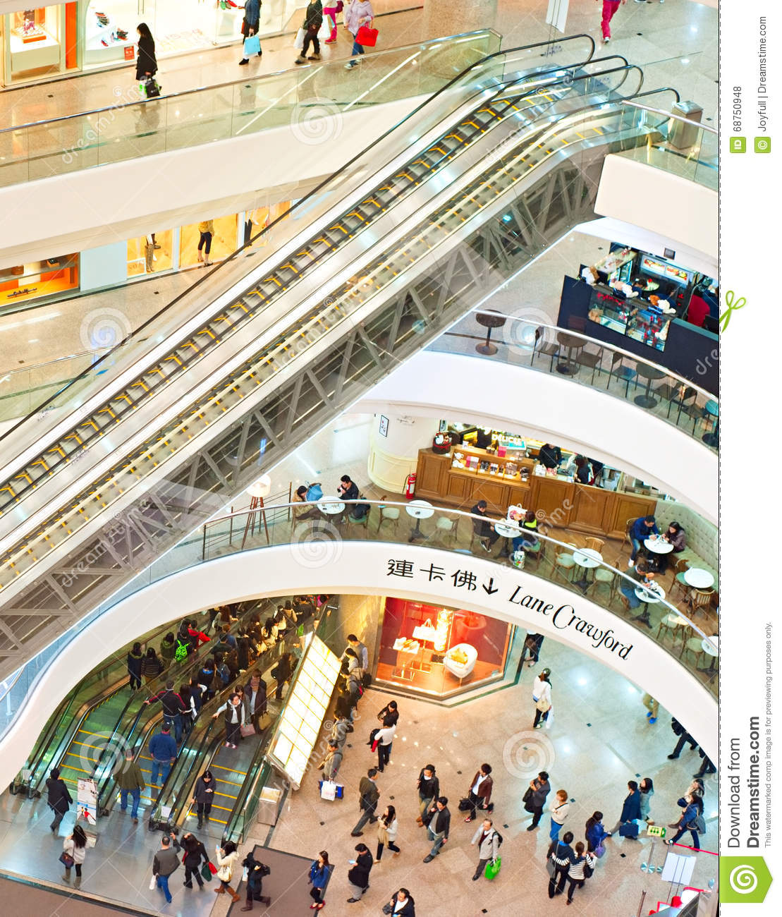Hong Kong Shopping: Times Square Shopping Mall, Hong Kong Editorial Image