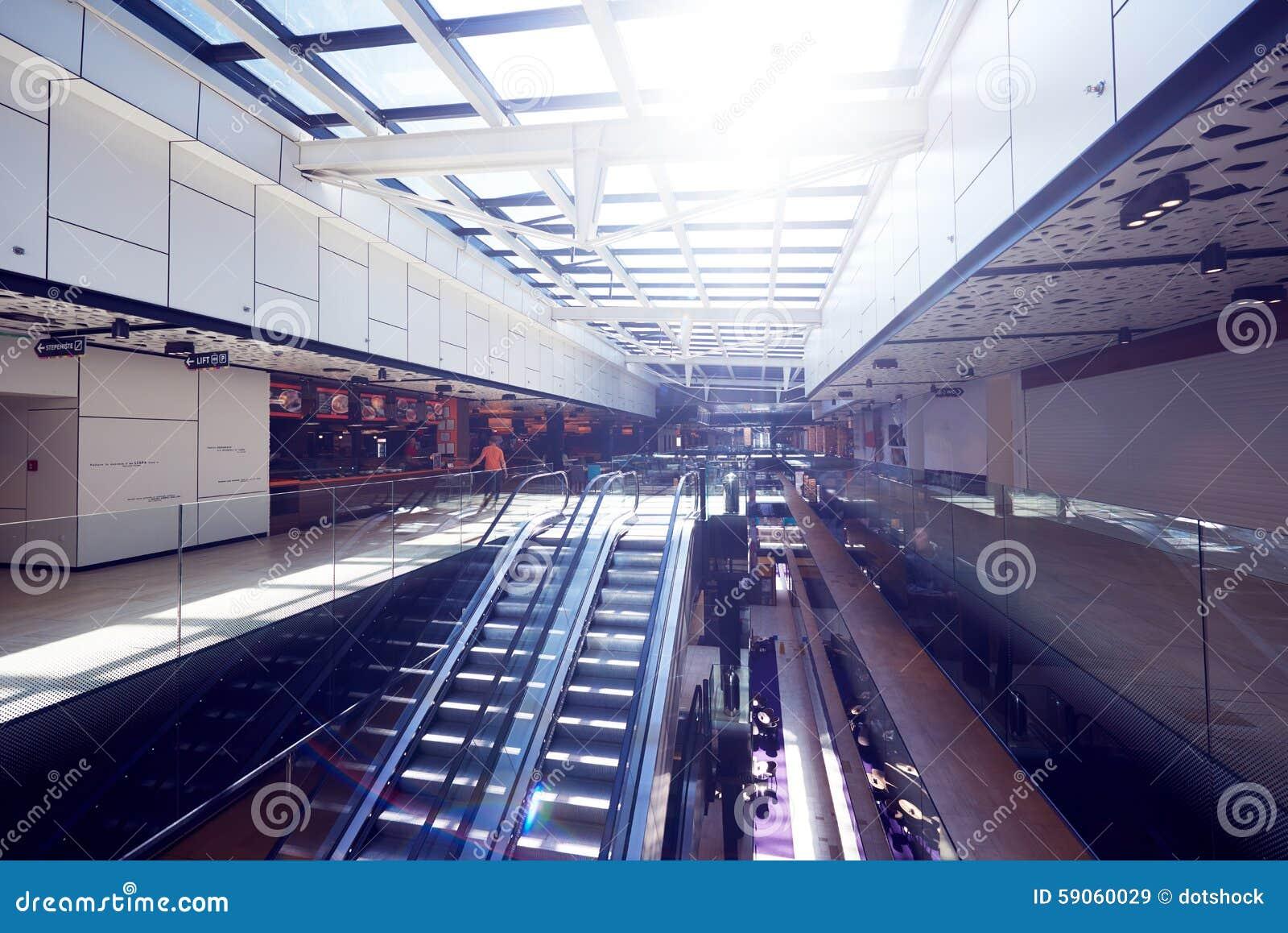 Shopping Mall Interior Escalator Stock Photo ...