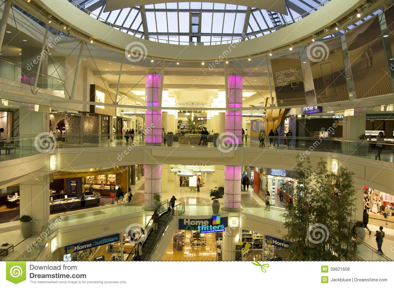 Shopping Mall Interior Editorial Stock Photo Image Of