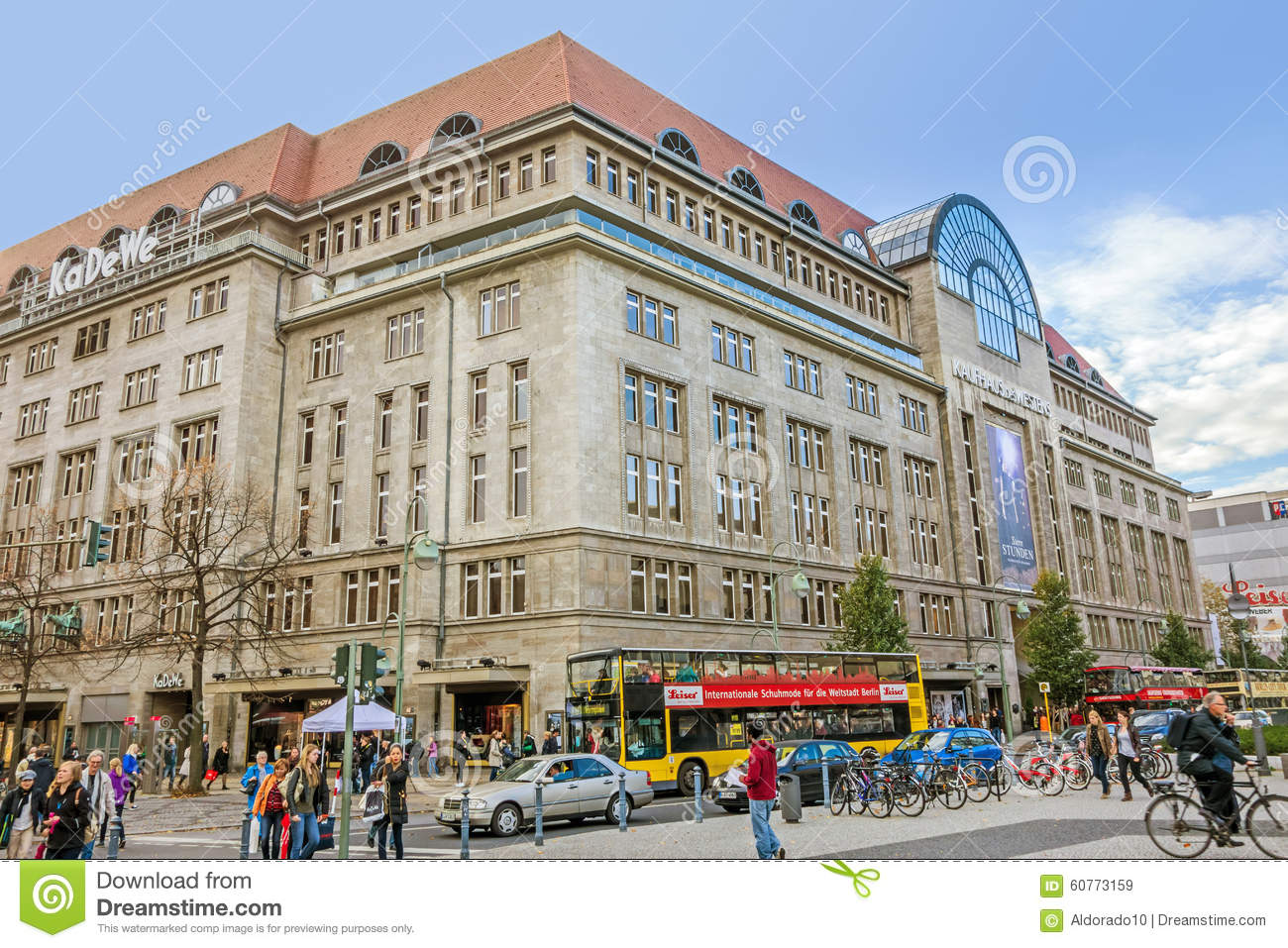 shopping mall kadewe kaufhaus des westens berlin editorial stock image image of building. Black Bedroom Furniture Sets. Home Design Ideas