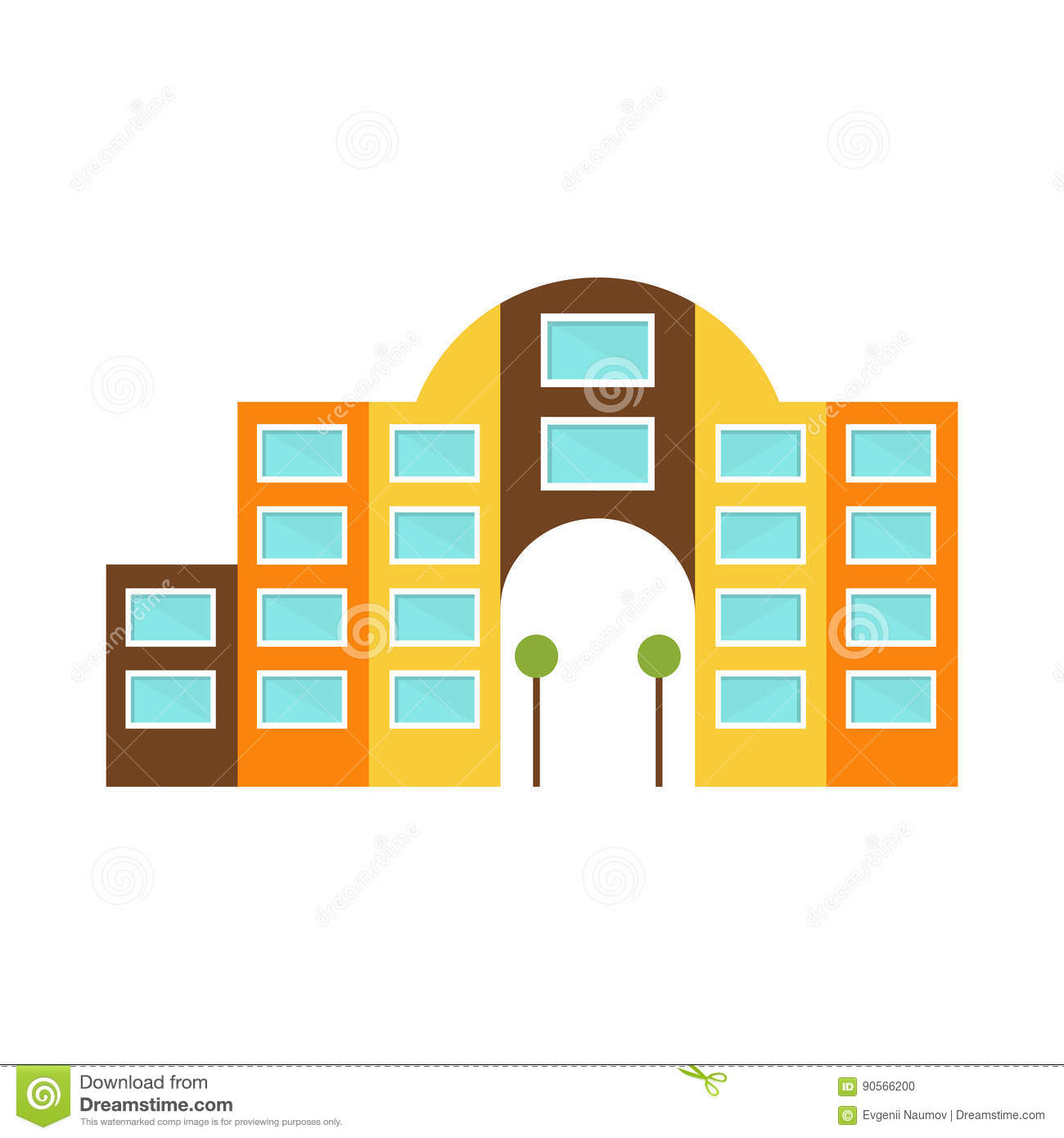 Archway cartoons illustrations vector stock images for Exterior design templates