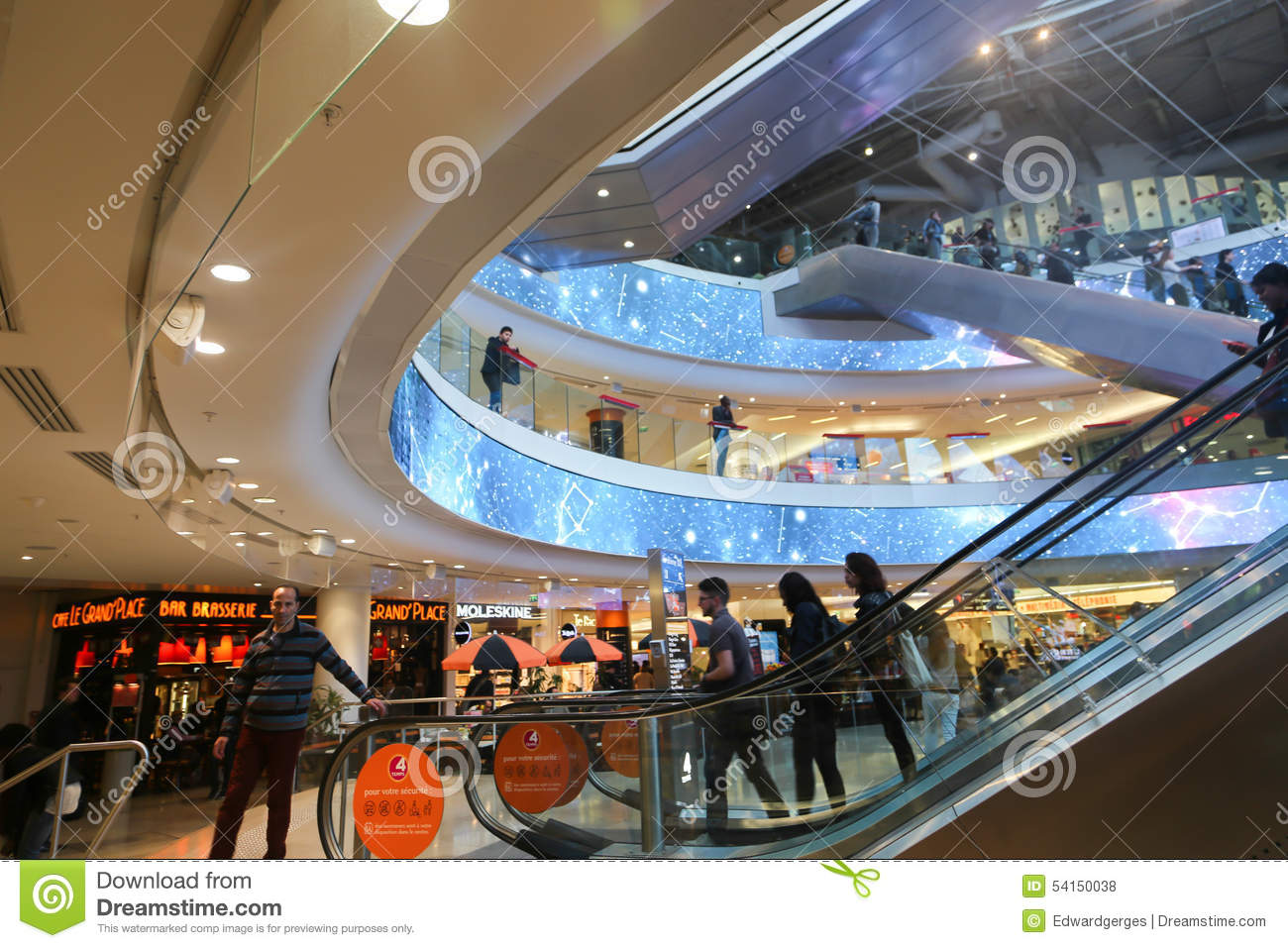shopping mall at paris editorial stock photo image of mall 54150038
