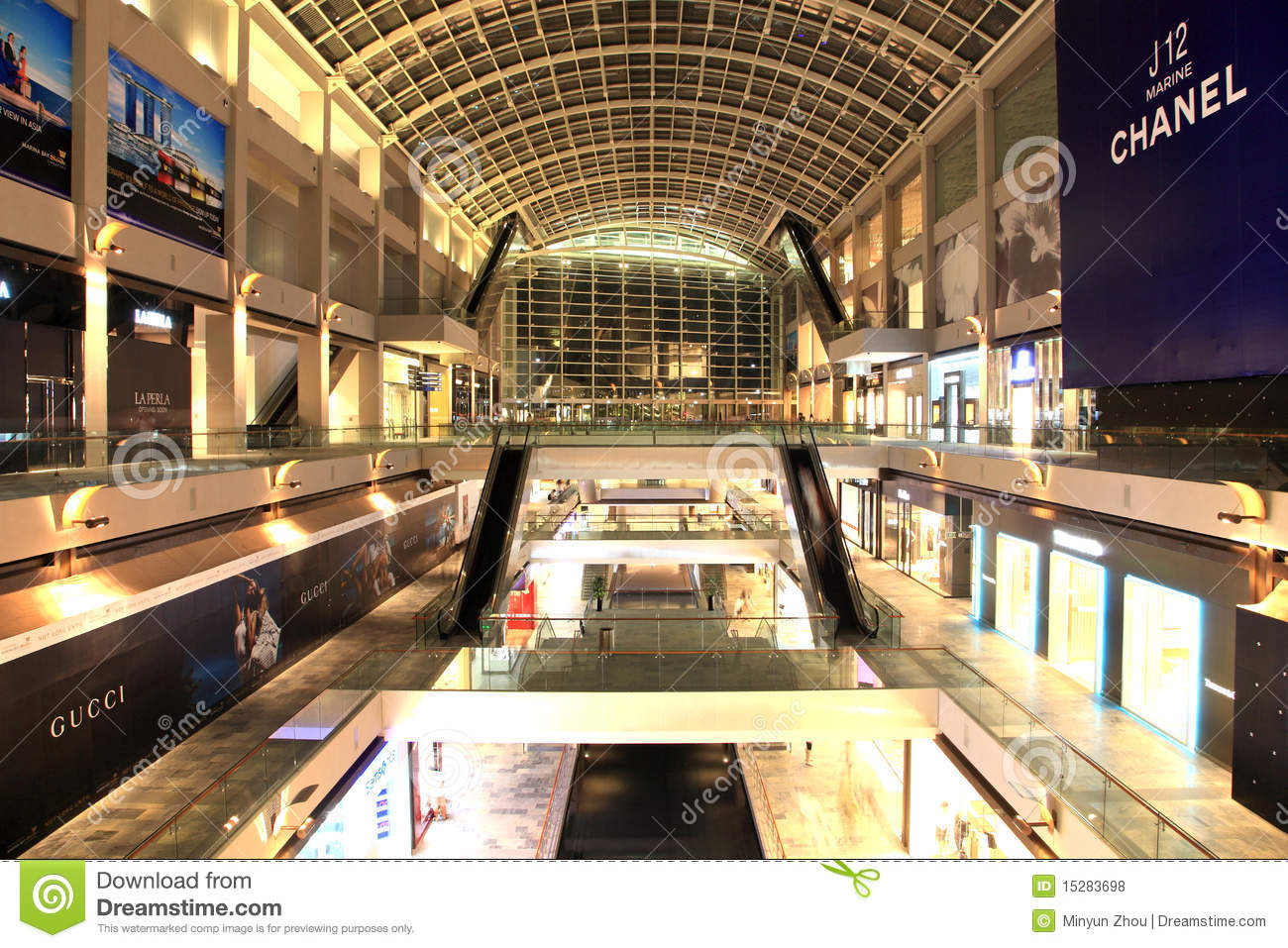 shopping mall singapore editorial stock photo