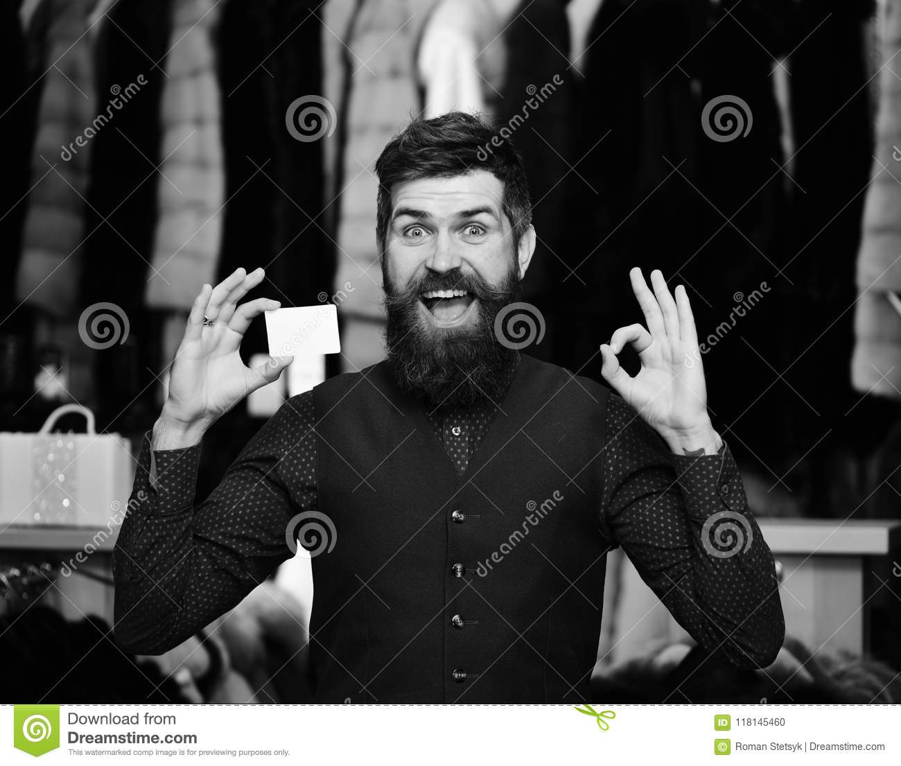 Shopping man credit card finance and shopping concept guy with credit card finance and shopping concept guy with beard and business colourmoves
