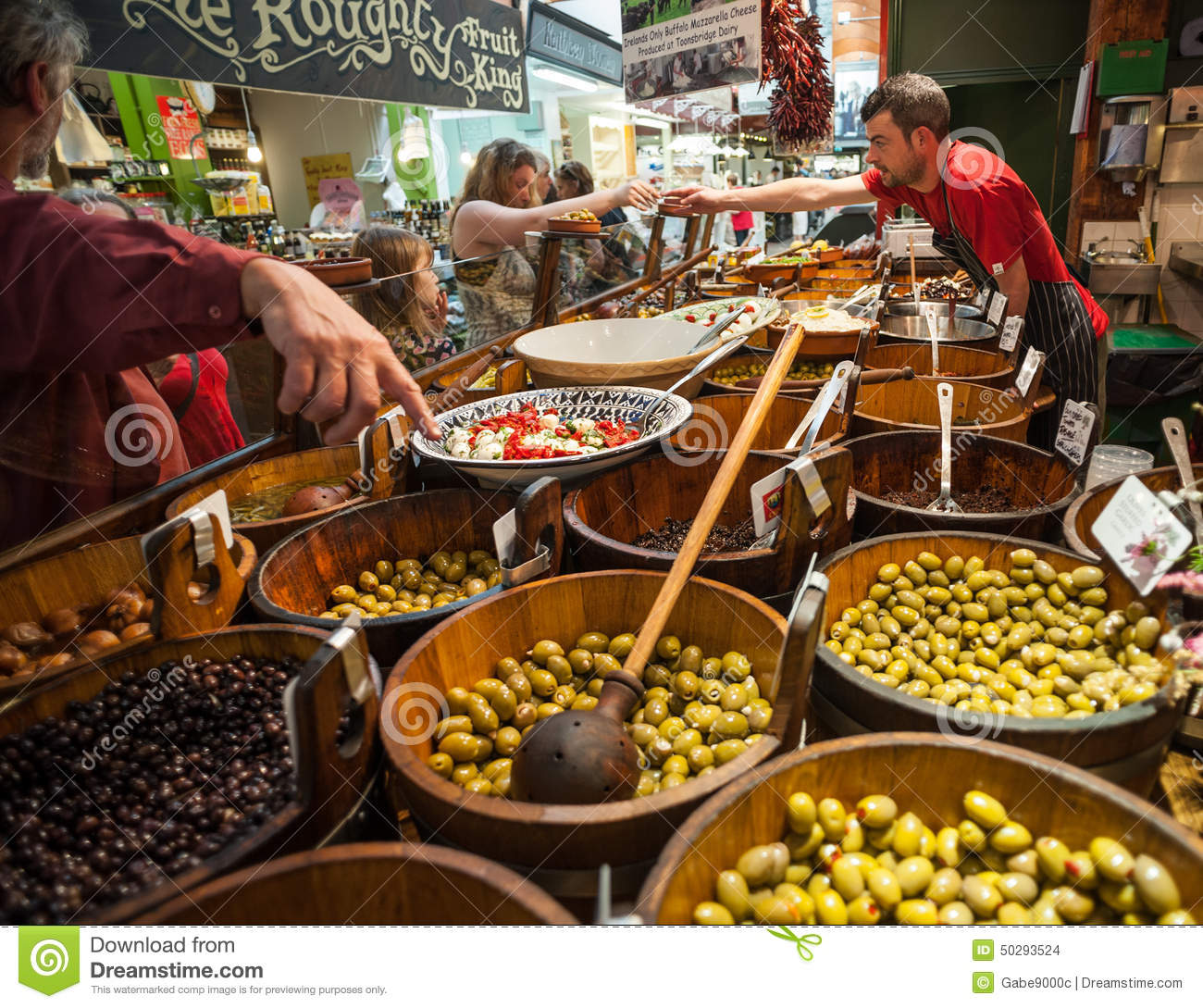 Cork People: Shopping For Olives Editorial Stock Image. Image Of Cork