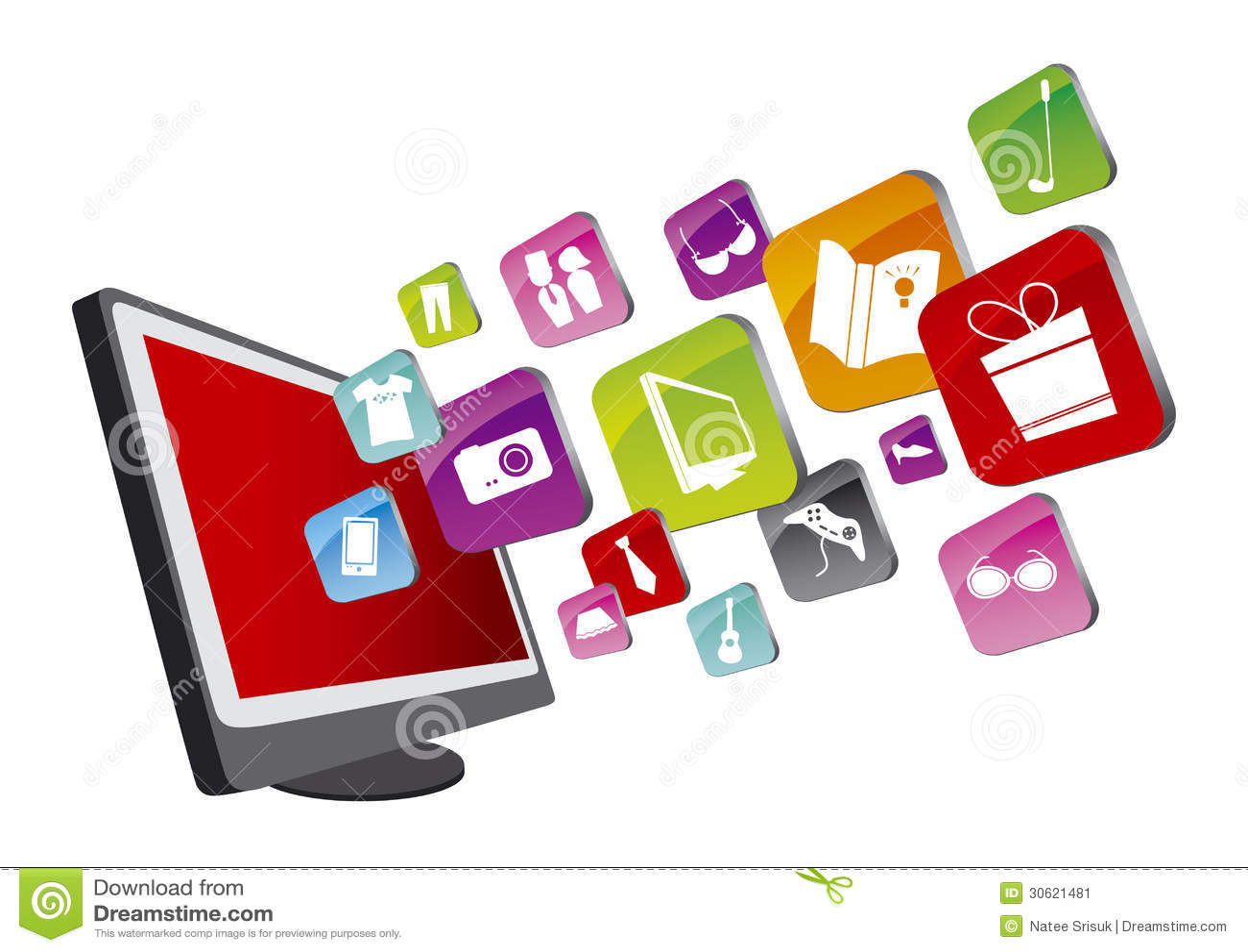 Shopping online stock image image 30621481 for Design shop online