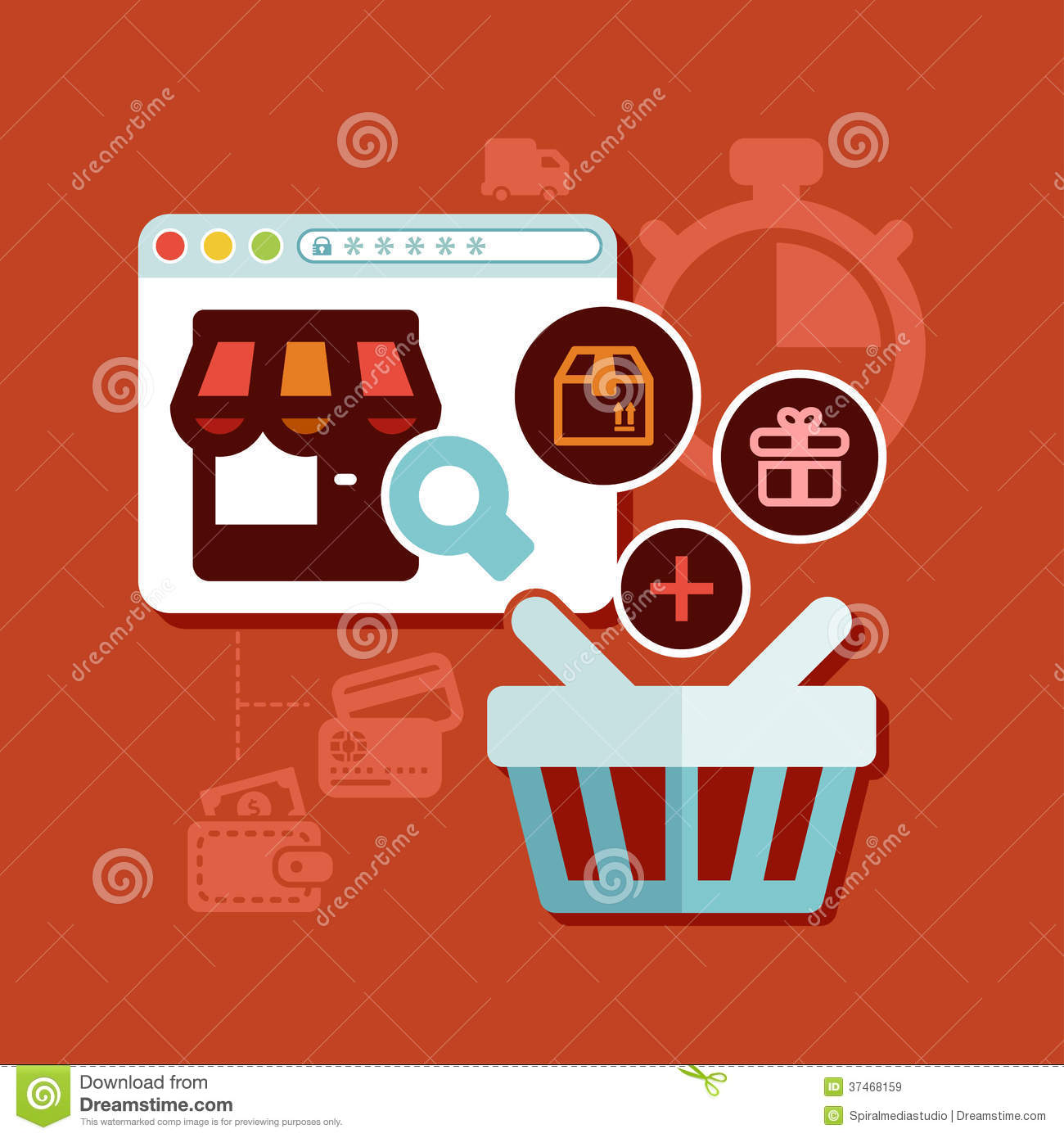 Shopping Online Royalty Free Stock Images Image 37468159