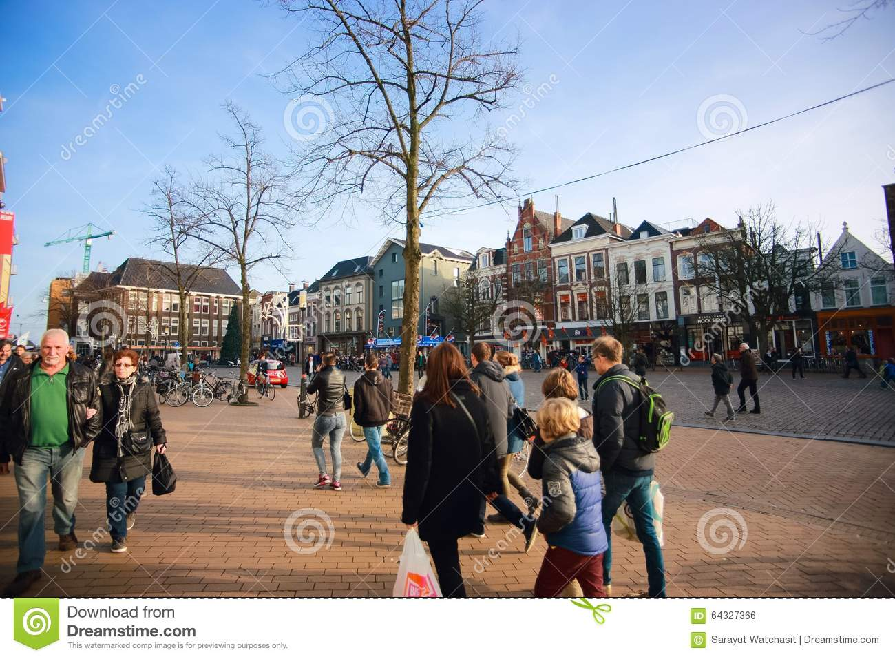 shopping plaza of the groningen city on christmas holiday editorial photo image 64327366. Black Bedroom Furniture Sets. Home Design Ideas