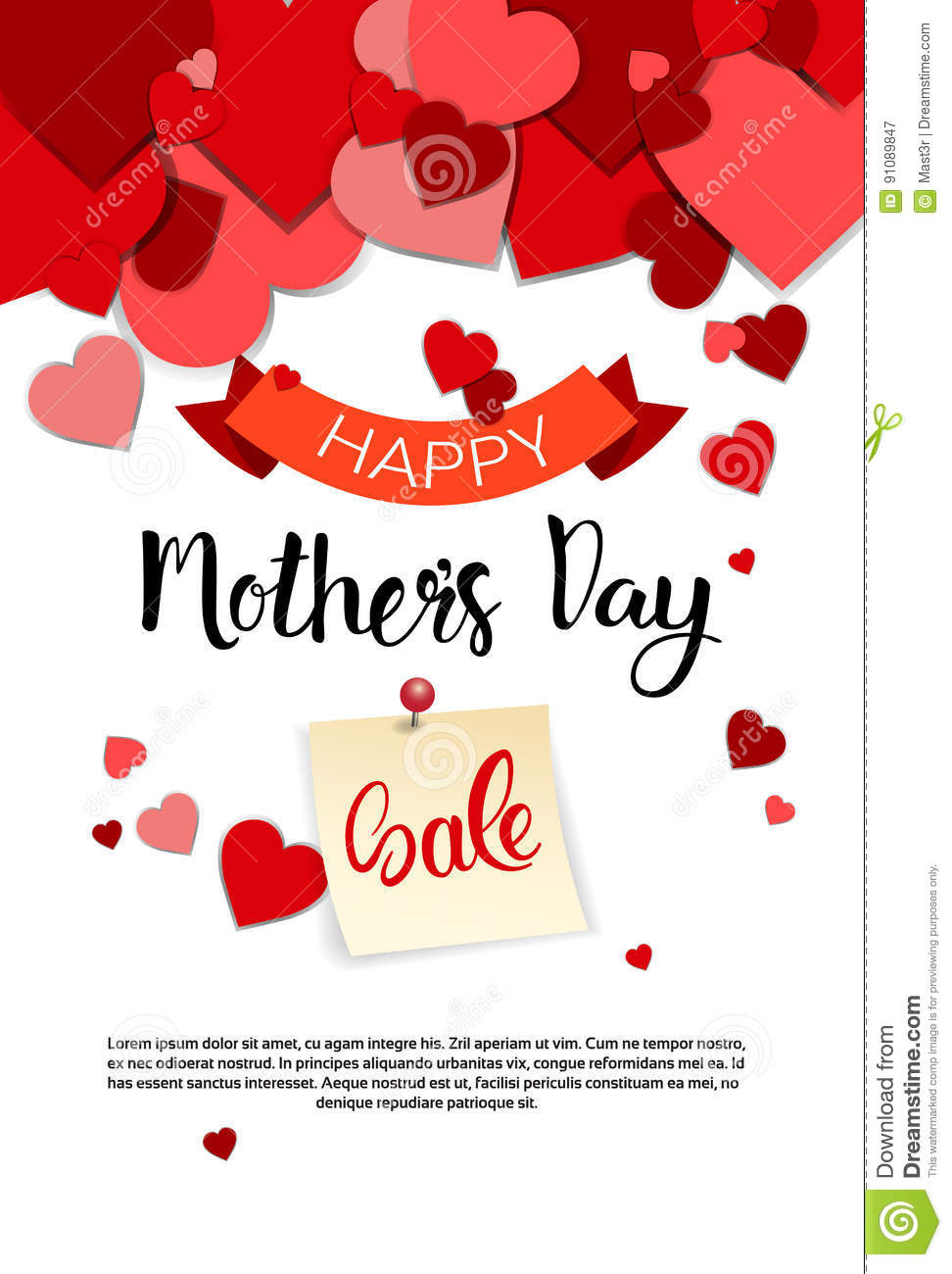 Shopping Sale Happy Mother Day Discount Spring Holiday Greeting