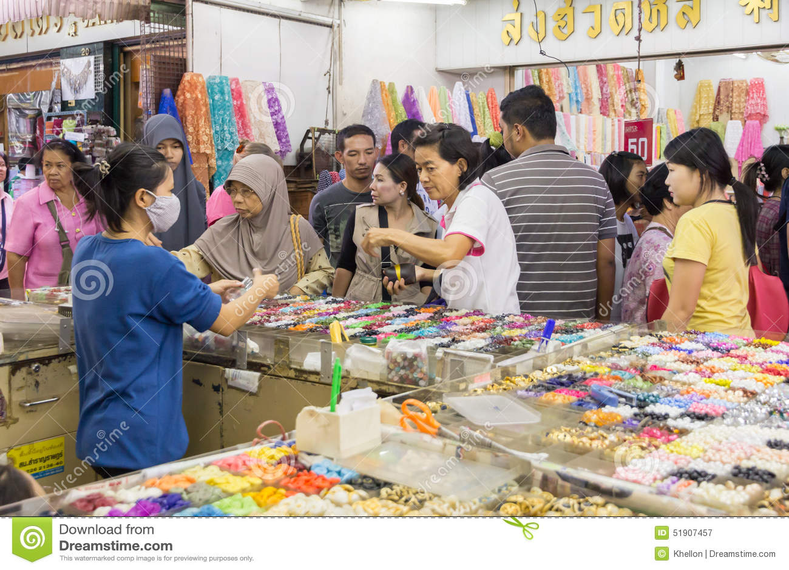 Shopping In Sampeng Lane Editorial Photography - Image ...