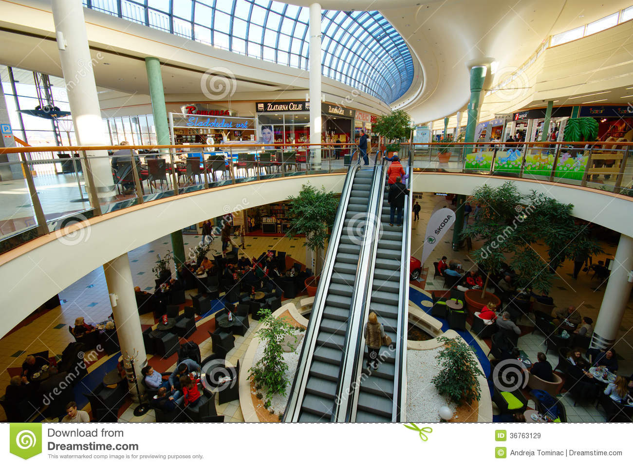 Shopping In Slovenia, Europark, Maribor Editorial Stock