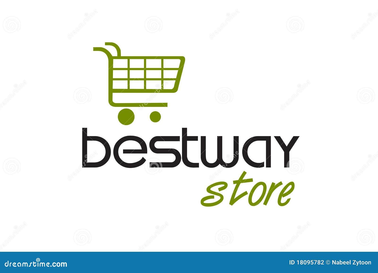 Shopping Station Logo Design Stock Photography Image