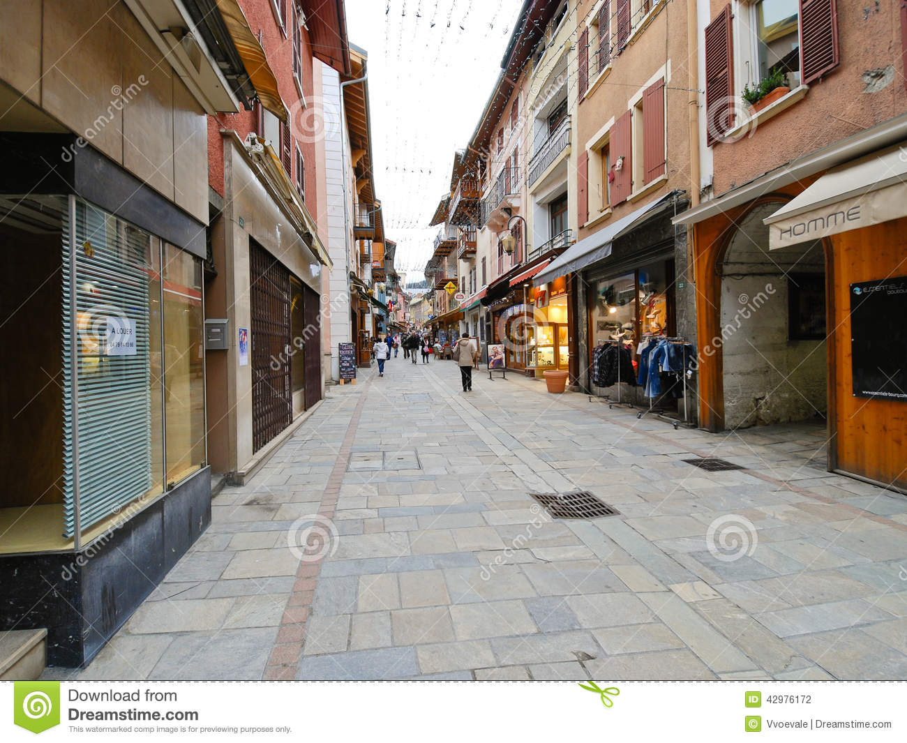 Bourg-Saint-Maurice France  city photo : BOURG SAINT MAURICE, FRANCE MARCH 15, 2011 shopping street of ...