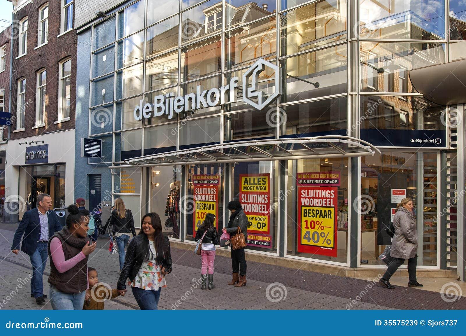 Shopping Street In The City Center Of Arnhem, Netherlands