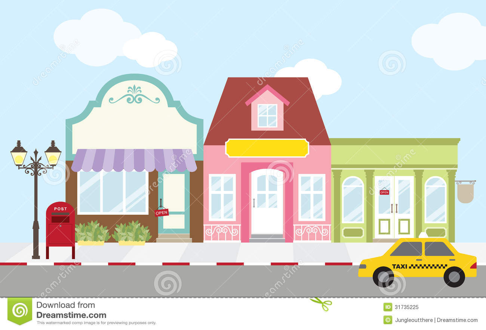 Shopping Street Royalty Free Stock Photo - Image: 31735225
