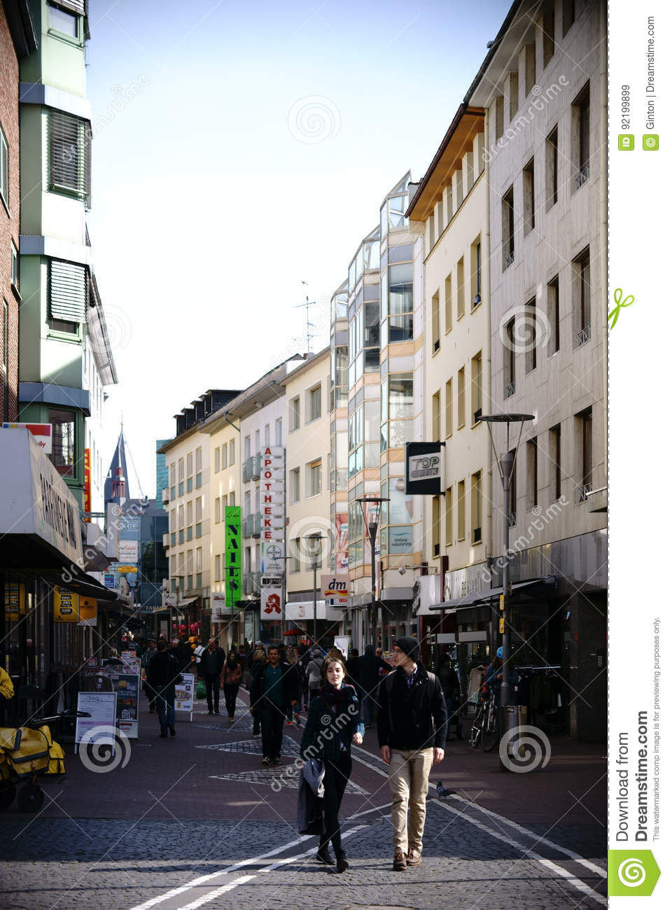 Shopping Street Mainz Editorial Stock Image Of Commercial