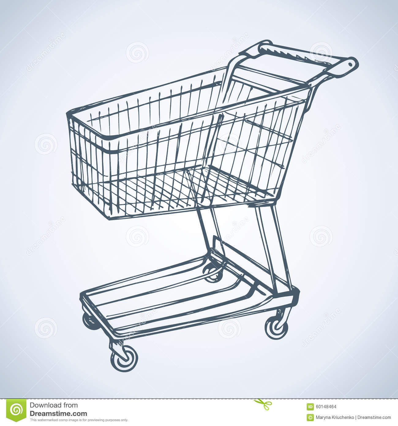 It is an image of Simplicity Shopping Cart Drawing