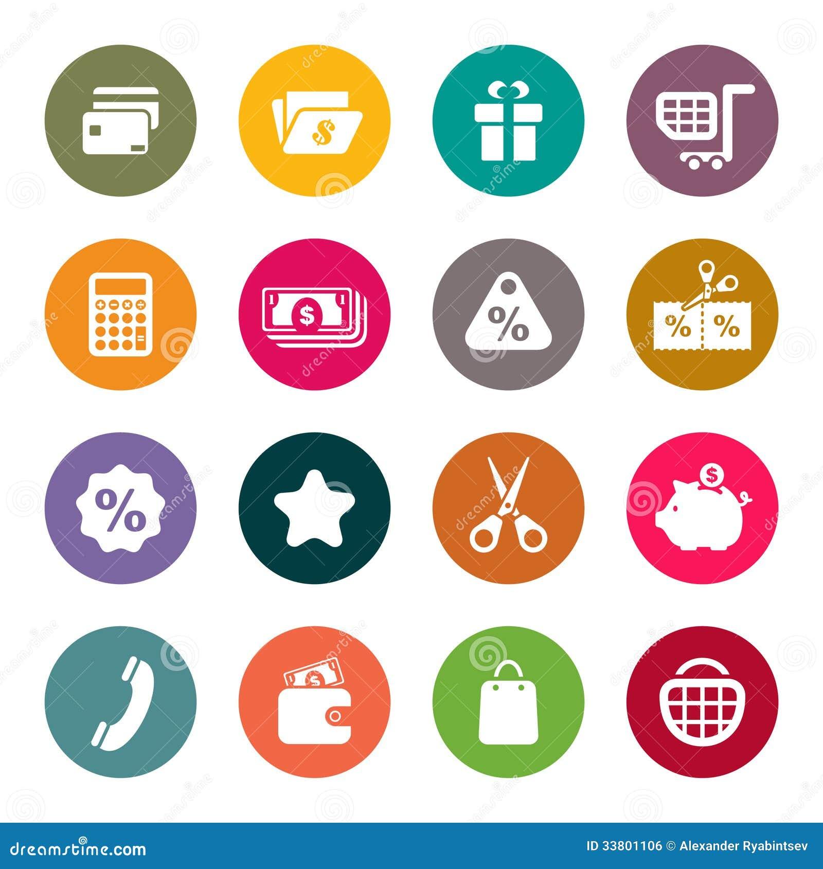 shopping theme icon set royalty free stock image image