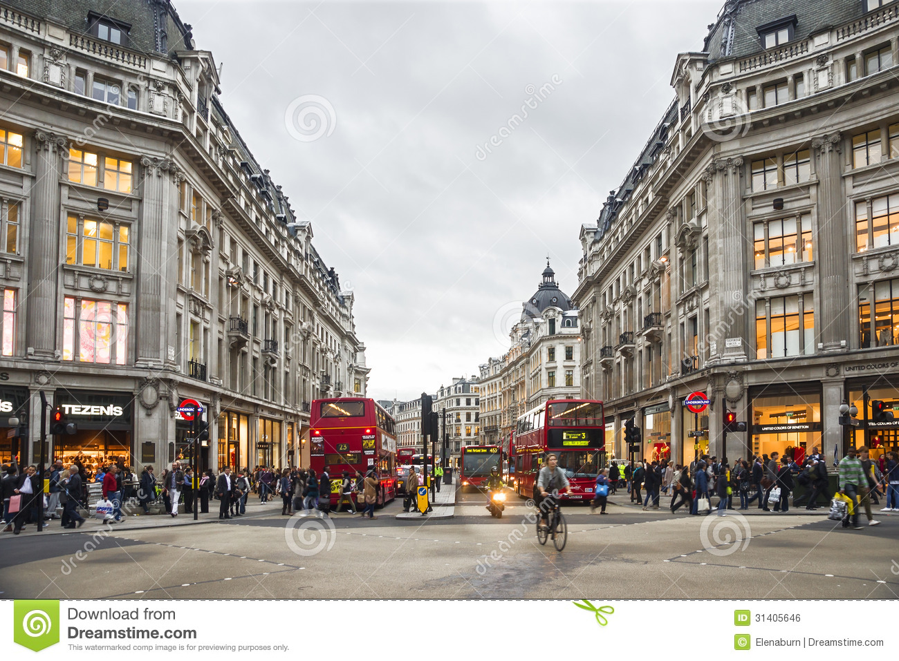Shopping time in Oxford Street, London