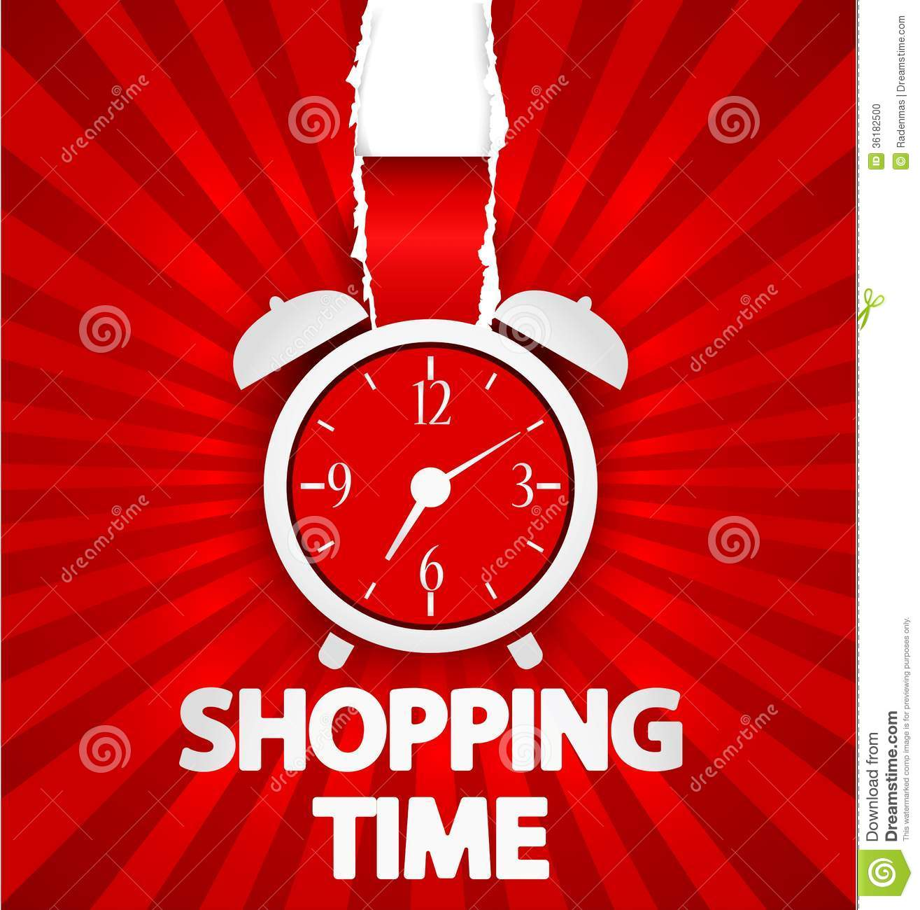 ... Time Poster Design With Alarm Clock Stock Photo - Image: 36182500